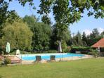 Large pool and gardens to enjoy the sun, wander or play Babminton and Boule