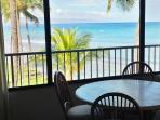 Oceanfront views from the Dining area