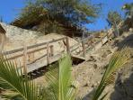 Stairs to the beach house