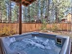 Hot Tub Set in The Fenced Backyard
