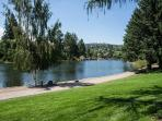 Bend Downtown Condo, Peaceful, Along the River, Sleeps 4