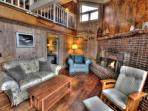 Beachwood Cottage's warm and comfortable living room!