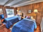 The Beachwood Cottage's loft has two twins!