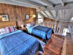 The twin beds in the loft are perfect for kids!
