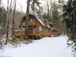 Glacier Springs Cabin #1 - A pet friendly cedar cabin with a hot tub and game room! NOW WITH WIFI!