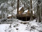 Snowline Cabin #86 A very rustic pet friendly Cabin with wood burning stove