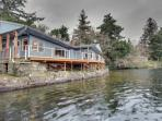 Lakefront, pet-friendly home with private dock and deck!