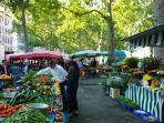 St Antoine's market before rush time, 50m from the apartment