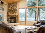Waterfront Chalet near Mt Baker Ski Area! Sleeps 10, WIFI, Gourmet Kitchen, Hot Tub, Foosball, Dock/Boat