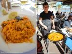 Enjoy this delicious Spanish dish Paella, a favorite among the locals