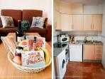 Open layout kitchen with abundant natural light from the patio. Welcome package upon request!