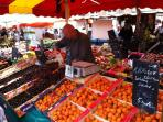 The Thursday market steeped with fresh produce of every kind