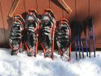 YES! We have snowshoes, available for our guests!