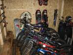 Fishing poles, Bicycles, snowshoes, Trekking poles, Golf clubs, Snow tubes, and more, ALL INCLUDED!