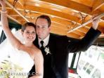 A MARRIED COUPLE RIDDING IN THE TROLLEY