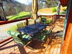 Enjoy morning coffee, afternoon breezes or sunsets from the deck