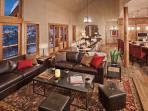 Large upper living area is great for entertaining.