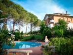 Impressive villa situated in vast green park, boasts lovely grounds, private pool and terrace, sleeps 8