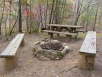 Private Picnic Area / Campfire Ring with Seating