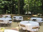 New decking area for receptions and gatherings. Ask for rates and availability.