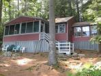 Comfortable Lakefront Camp Vacation Rental on Lake Waukewan Sleeps 8 (COL26W)