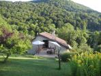 holiday house on the river Doubs and cycle path