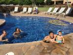 Heated pool to enjoy with friends and family!