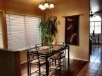 'Formal' dining area with seating up to 6.