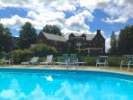enjoy the pool - a quick 3 minute walk from the Innkeepers Cottage