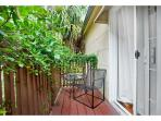 Historic carriage home with a garden view balcony