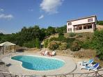 Detached Farmhouse with superb views and pool