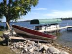 Row Boat, Kayaks, and Paddle Boat included in rental