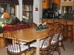 Dining table seats at least 8