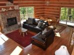 Modern Log Cabin with All the Comforts of Home