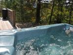Let Your Cares Drift Away While Relaxing in the Hot Tub