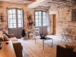 Large two floor apartment with private courtyard