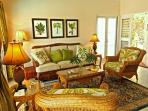 Comfortable upscale furnishings inside