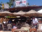 Tabasco Beach Restaurant and Bar on the beach - we love it here!