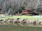Cottage on the New great view of the New River from well appointed getaway