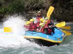 river rafting nearby from end of May to October