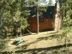 Cabin sits on a double lot on a quite cul de sac- there is parking for a car, boat, or RV.