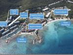 This is our location. Right next to tours. Short walk to beautiful beach and great snorkeling.