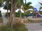 150 steps from the townhome is the beach entrance and a playground!