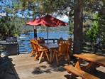 Cozy Lakefront Cabin where you can lounge lakefront at this cozy Vacation Cabin with outdoor hot tub and close to shopping in Big Bear.