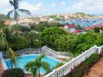 Colony Club apartment overlooking Gustavia Harbor conveniently located WV CCG