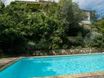 From the pool towards the villa