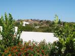 view from private garden , the lay of the land makes the garden private from onlookers