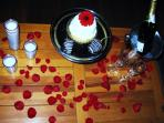 Romance package add on~gourmet cupcake $4.99 with chocolate covered strawberries $2.95 each.