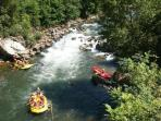 Canoe Kayack in the mountain torrents of the Basque Country