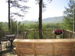 Laurel Ridge Deck with Swing, Charcoal Grill Hot Tub & Mtn View